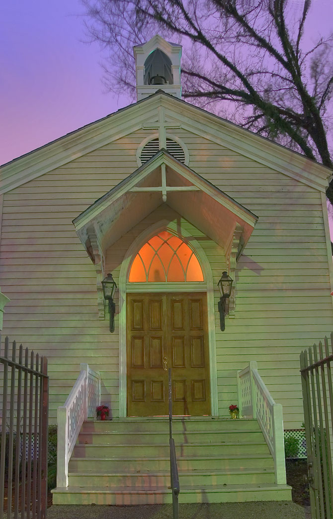 St.Mary's Chapel on Jackson Ave. near St.Charles...District. New Orleans, Louisiana