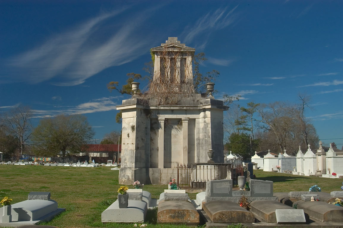 Joseph Landry Tomb (1845) in Ascension Catholic...Charles St.. Donaldsonville, Louisiana