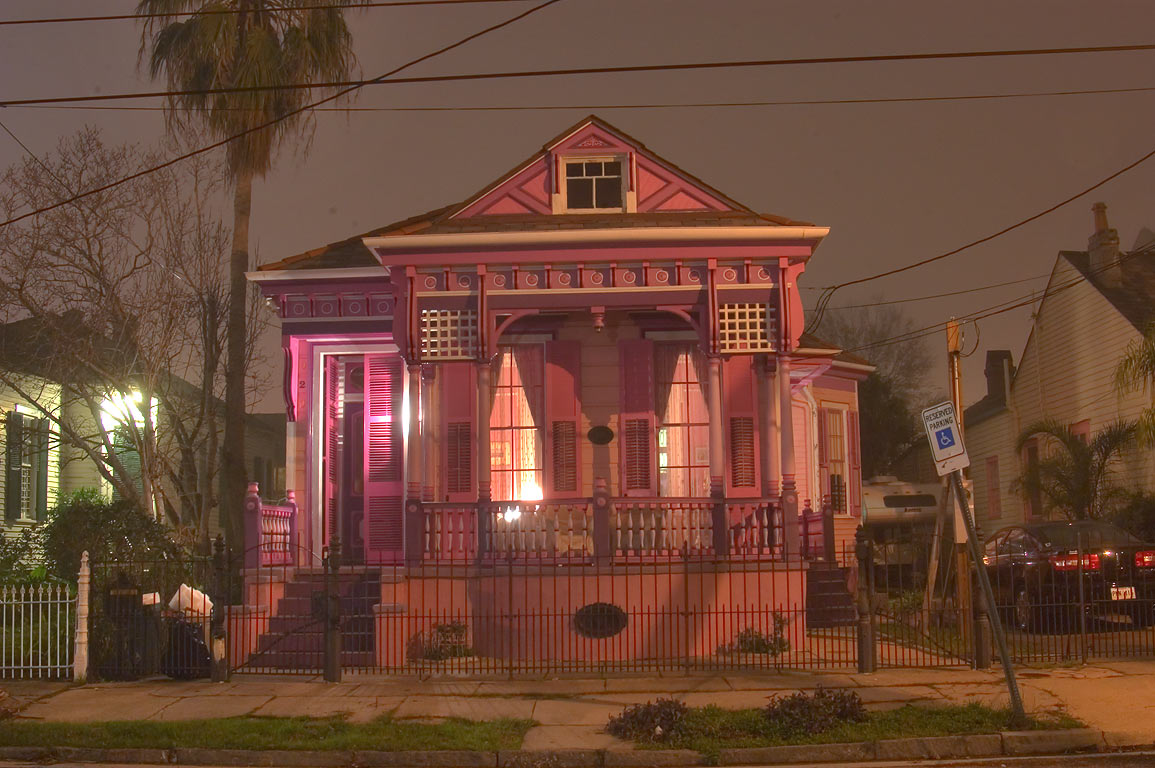 929 Marigny St. in Faubourg Marigny at evening. New Orleans, Louisiana
