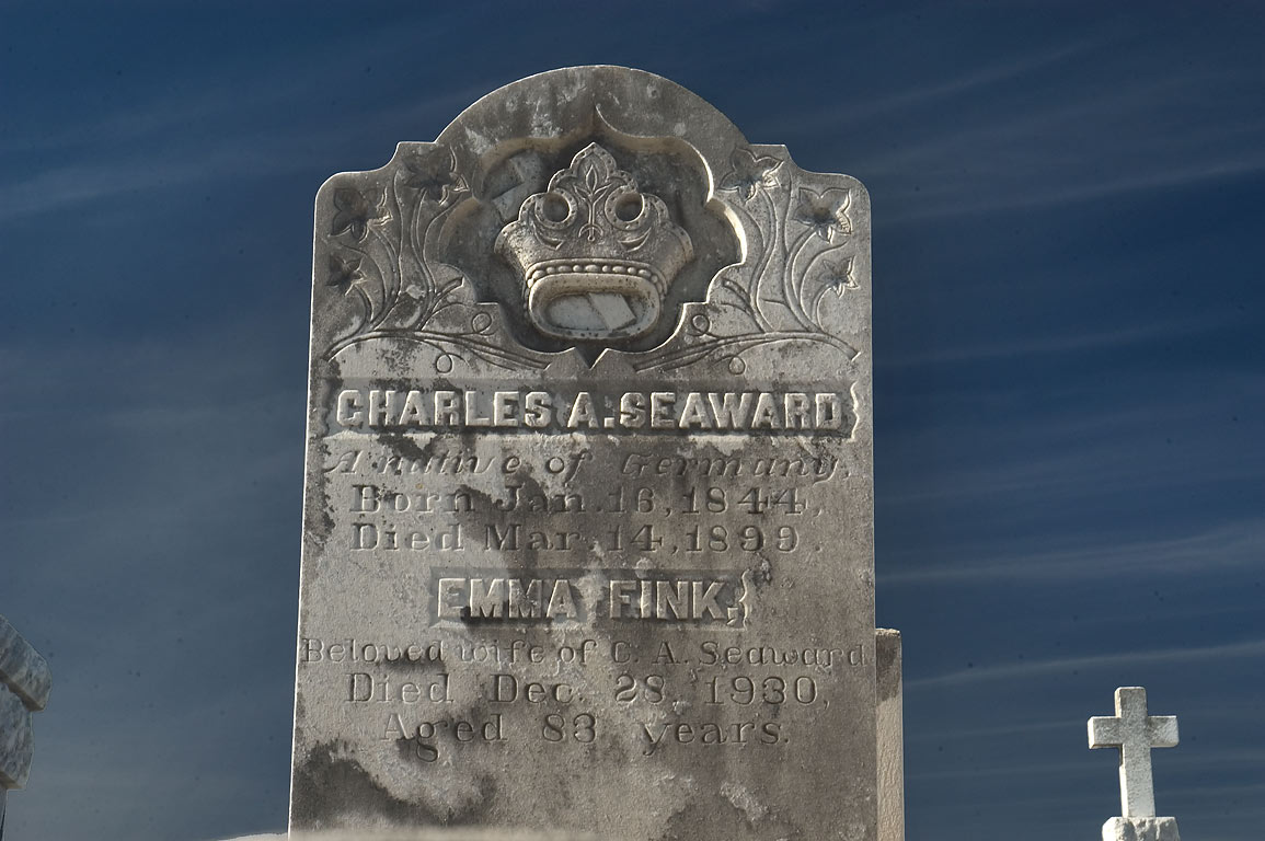 A tomb of Charles A. Seaward and Emma Fink in Greenwood Cemetery. New Orleans, Louisiana
