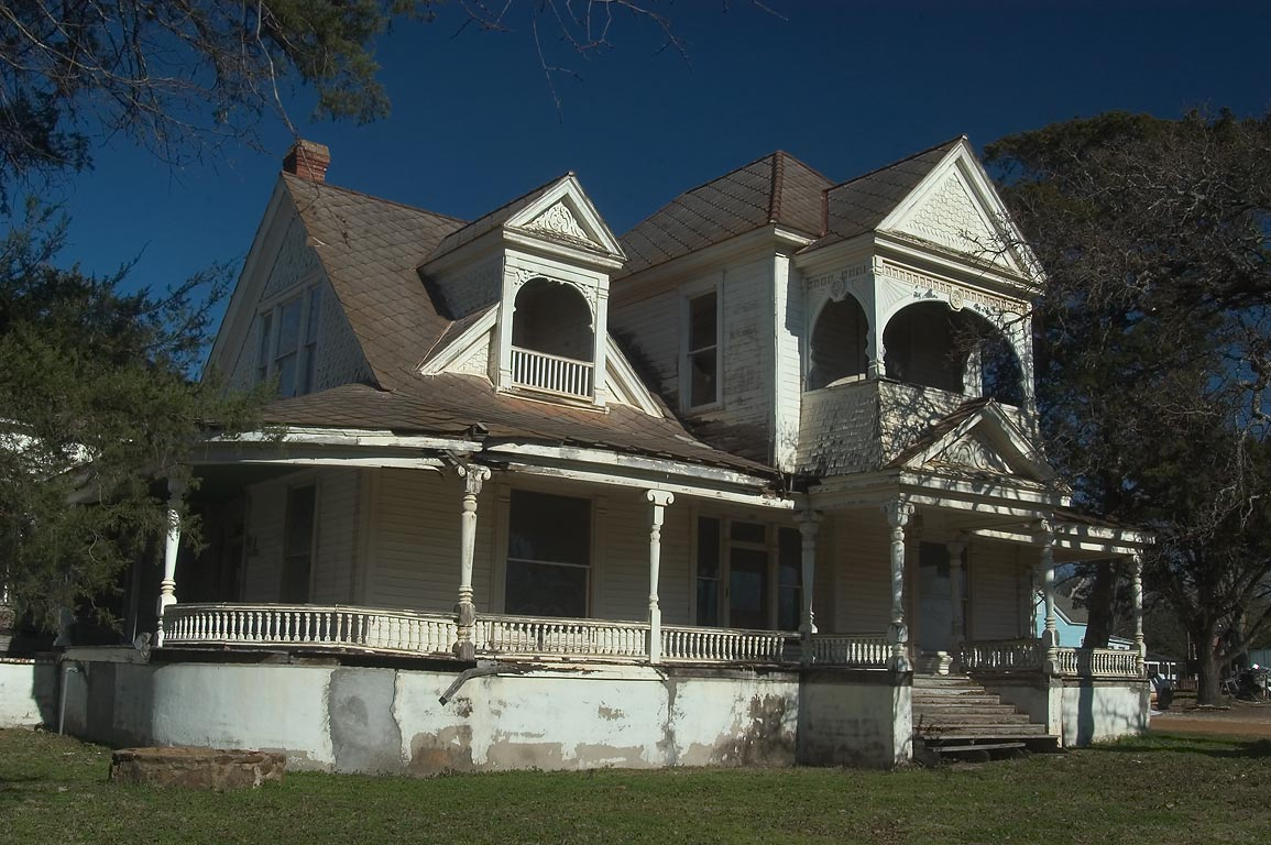 Jake Abrams-Allday House (1887) at 209 East...a corner of Pine St.. Calvert, Texas