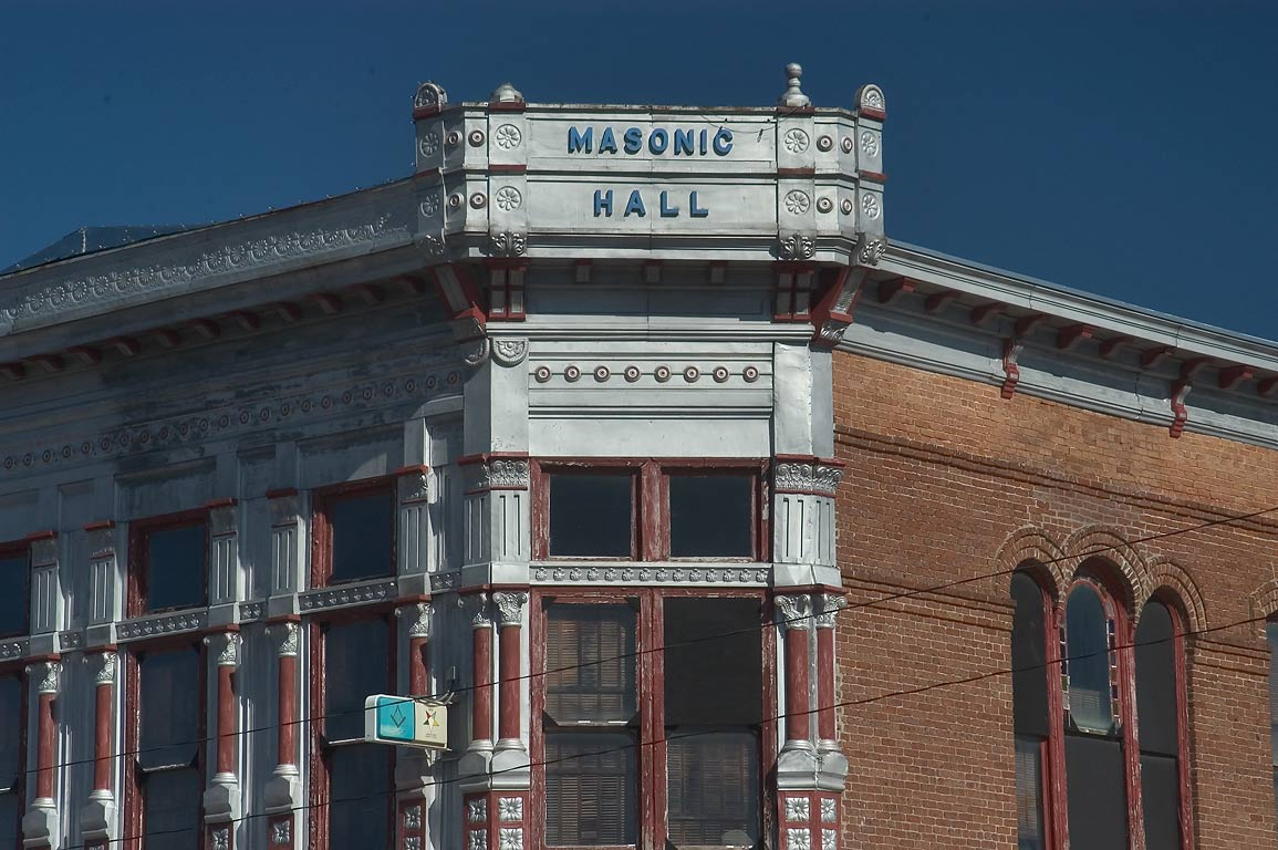 Masonic Hall (Pierce Masonic Lodge No. 144) at...of East Mitchell St.. Calvert, Texas