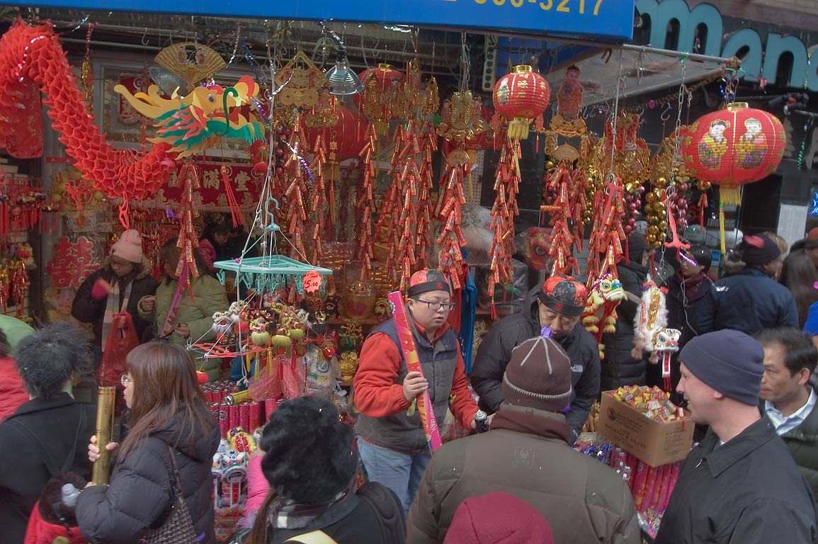 Chinese New Year festivities near Mulberry St.. New York City