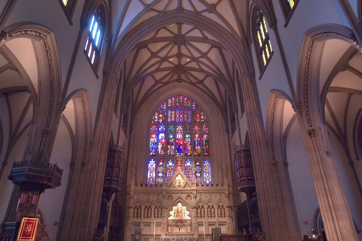 Interior of St.Patrick's Cathedral at 460 Madison Ave.. New York City