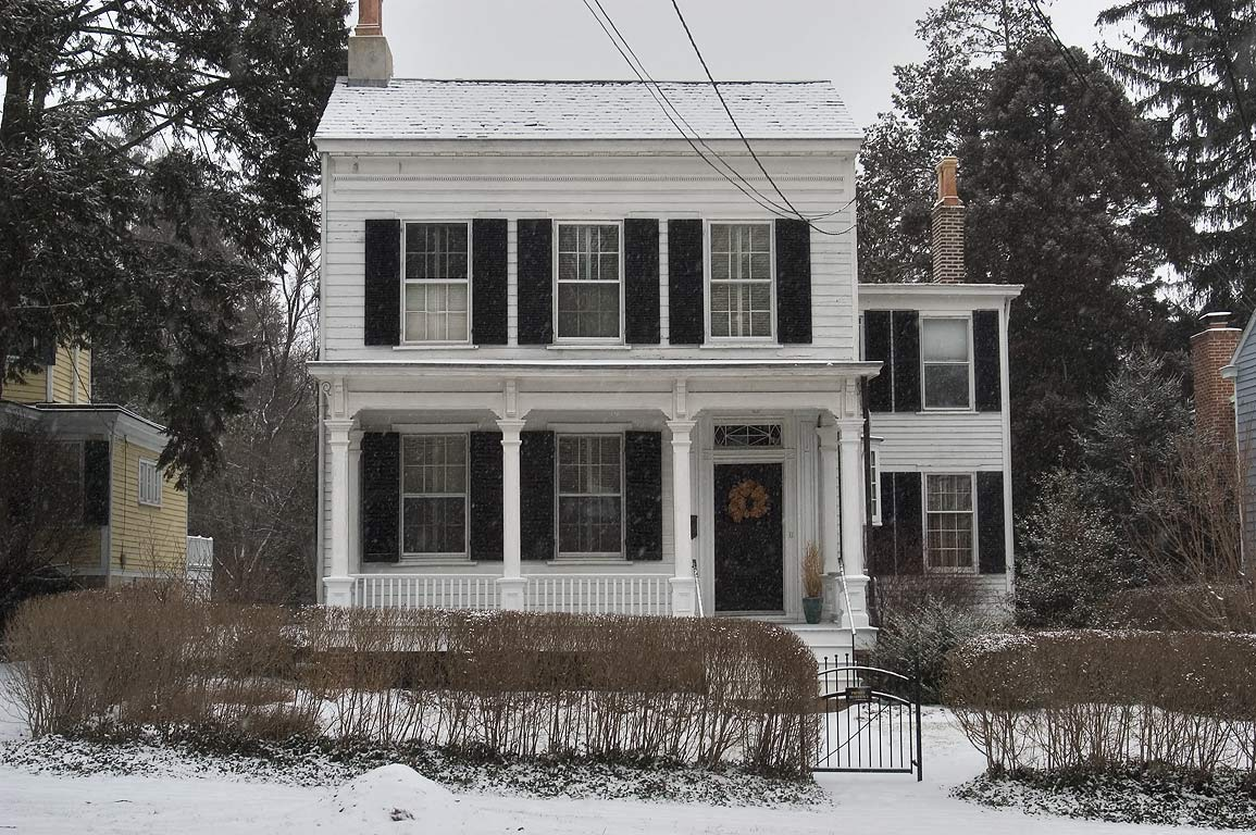 A white clapboard house at 112 Mercer St. where A...in 1935-1955. Princeton, New Jersey