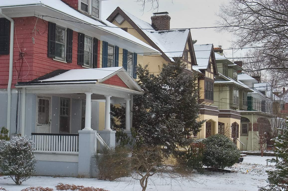 Houses on Moore St.. Princeton, New Jersey