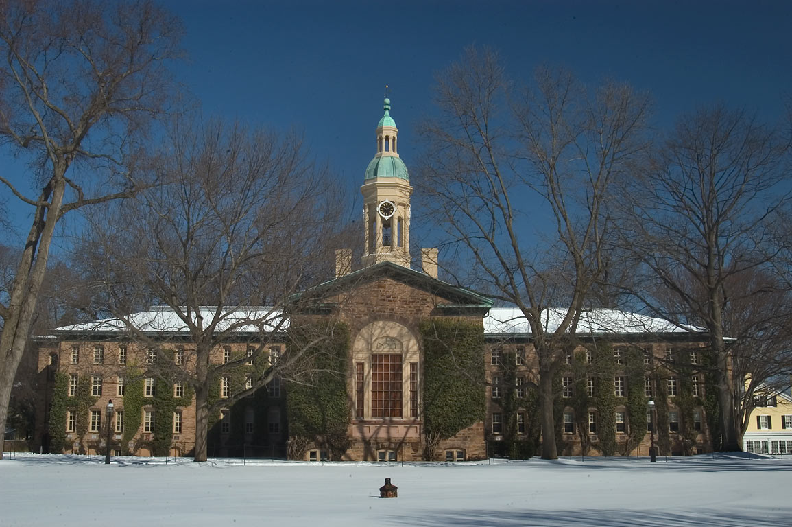 Cannon Green and Nassau Hall in Princeton University. Princeton, New Jersey
