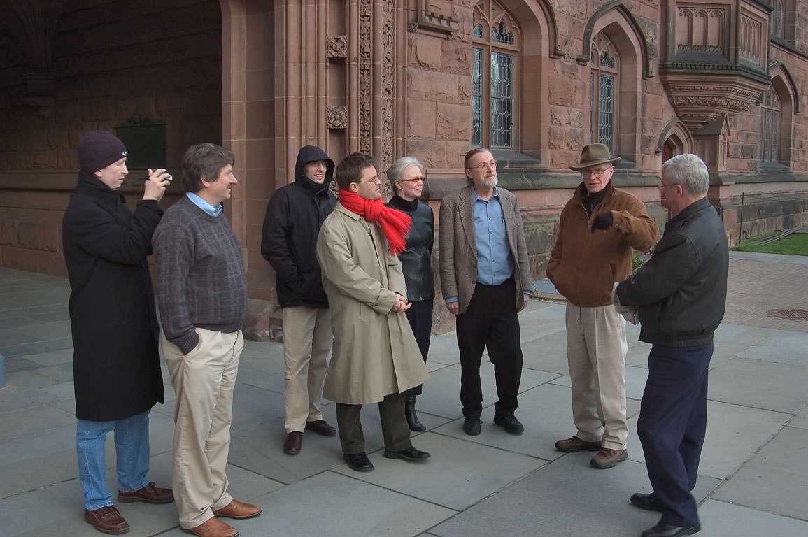 Participants of Princeton-TAMU Symposium touring...East Pyne Hall. Princeton, New Jersey