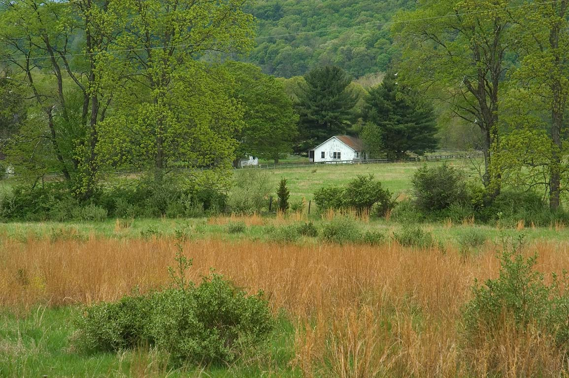 A farm in Walpack Valley, view from Mountain Rd.. Delaware Water Gap, New Jersey