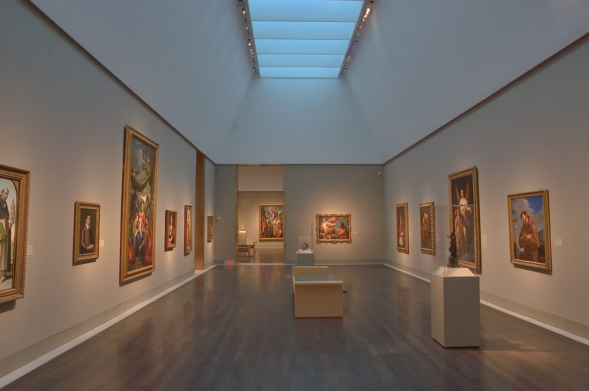 Paintings in Museum of Fine Arts. Houston, Texas