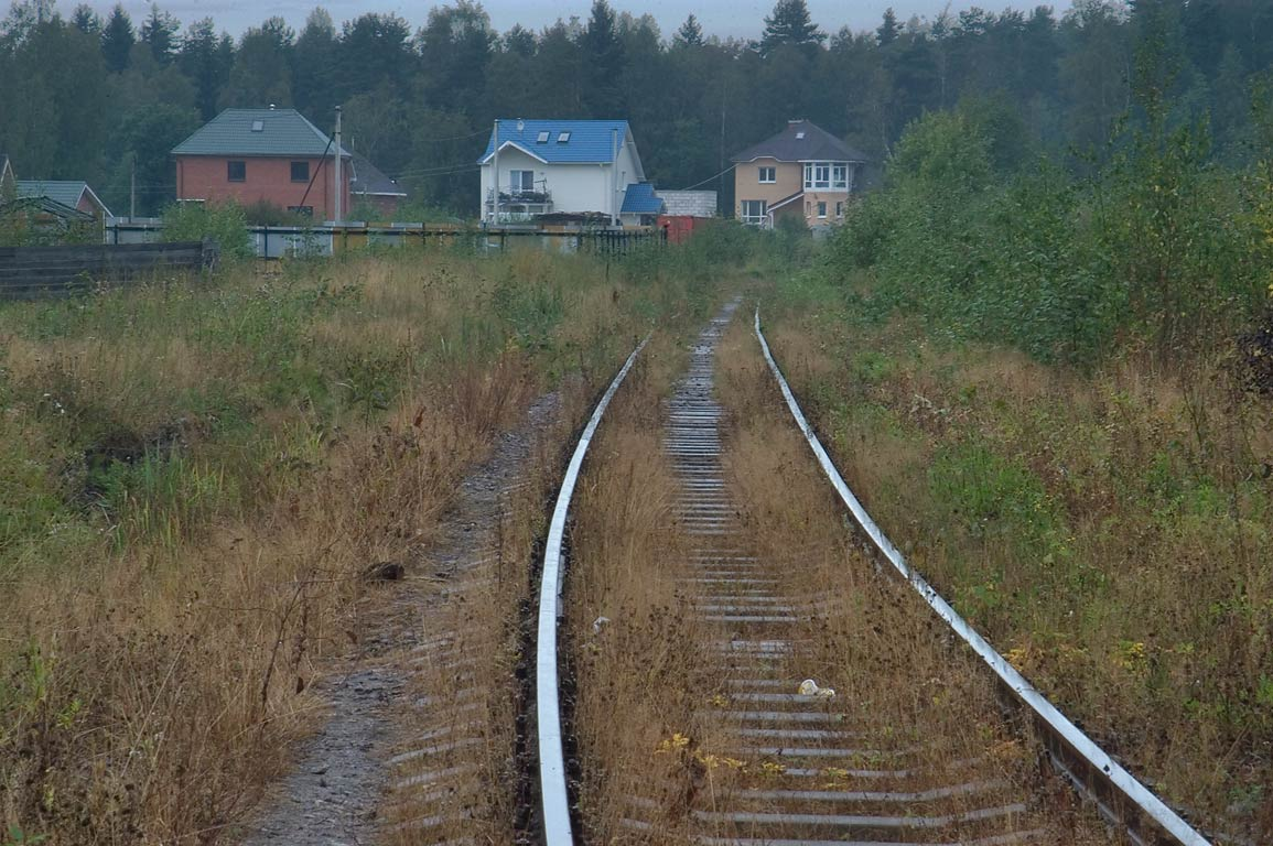 Railroad tracks in Toksovo, 9 miles north from St.Petersburg. Russia