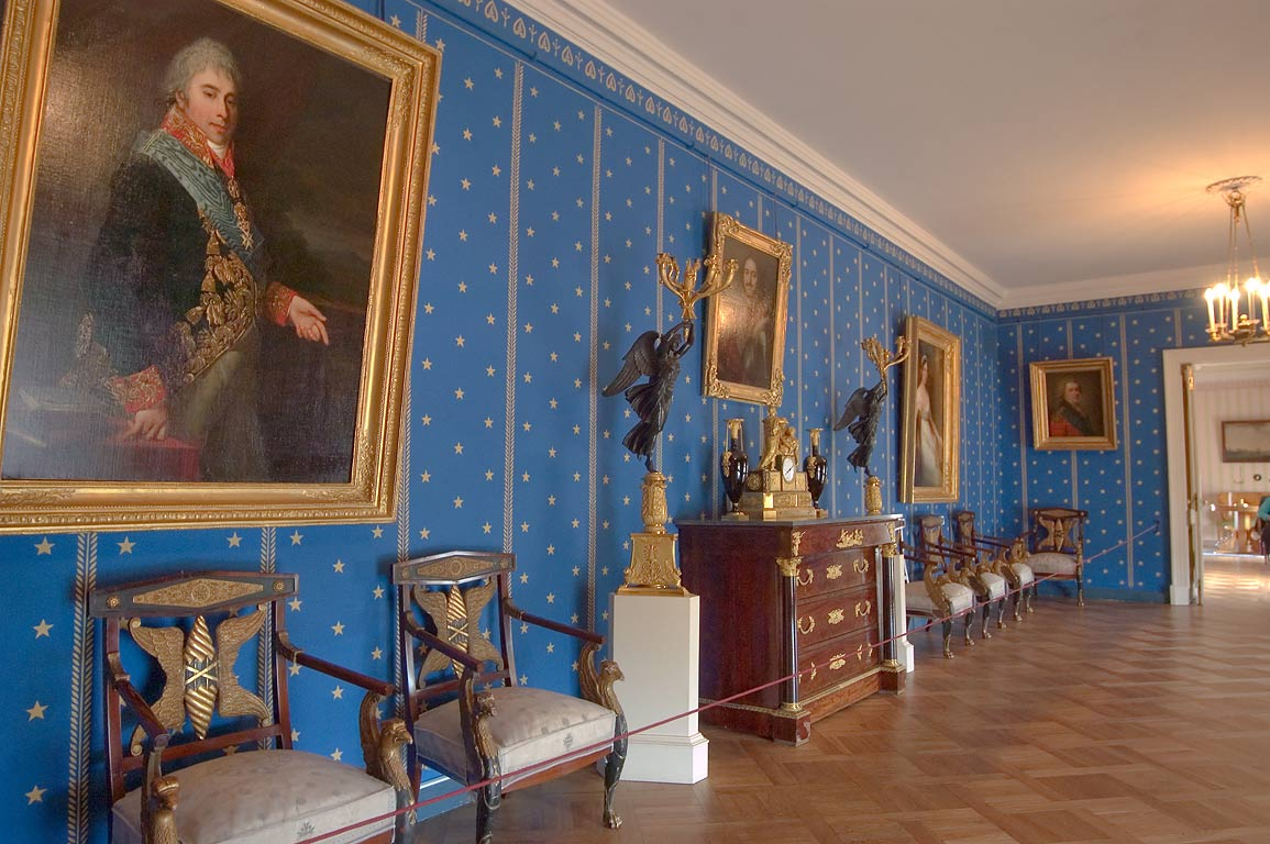 Gallery in Pavlovsky Palace. Pavlovsk, a suburb of St.Petersburg, Russia