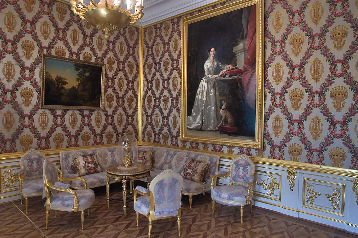 Room corner in Grand Palace. Peterhof, a suburb of St.Petersburg, Russia