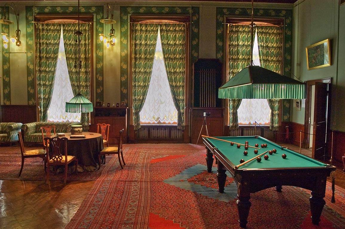 Billiard pool in Alexander Palace. Tsarskoe Selo...suburb of St.Petersburg, Russia