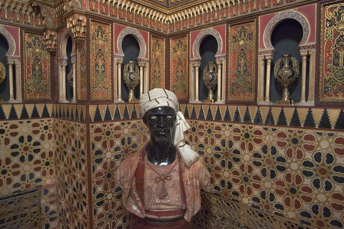 Statue in Mauritanian Parlor of Yusupov Palace. St.Petersburg, Russia