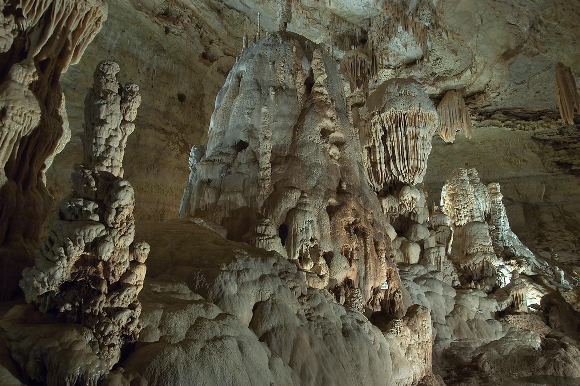 The King's Throne in Northern Cavern in Natural Bridge Caverns. San Antonio, Texas