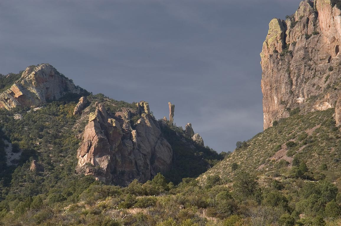 Boot Rock, view from Juniper Canyon Trail. Big Bend National Park, Texas