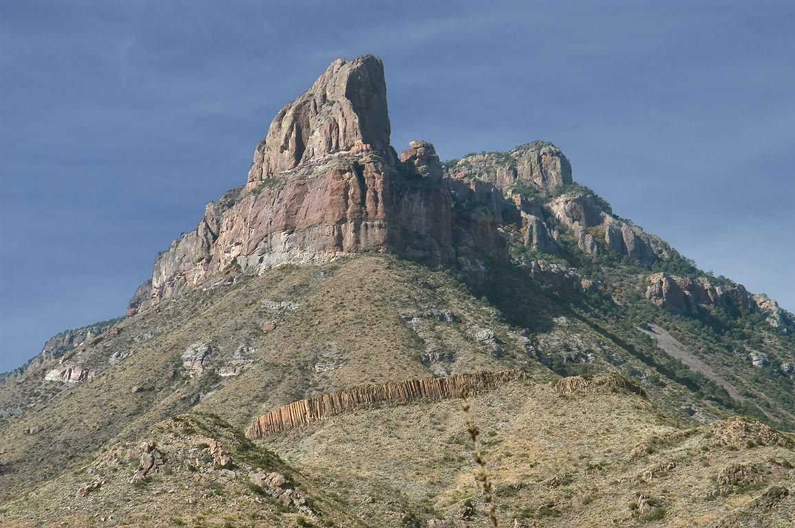Northeast Rim, view from lower part of Juniper Canyon Trail. Big Bend National Park, Texas