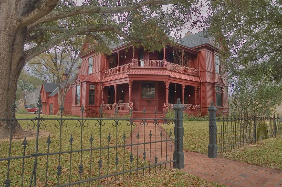 Robert Hedron Brown House (c. 1897) with a...corner of Pin Oak St.. Calvert, Texas
