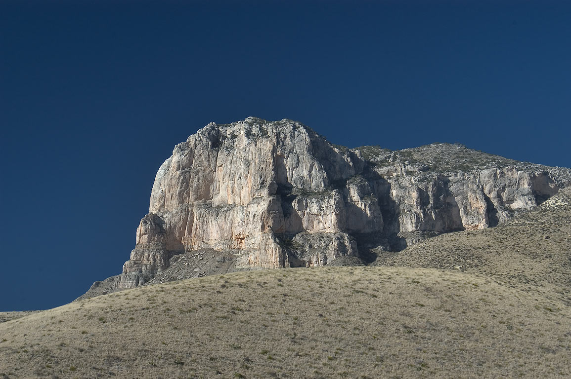 El Capitan Mountain from a trail in Guadalupe Mountains National Park. Texas