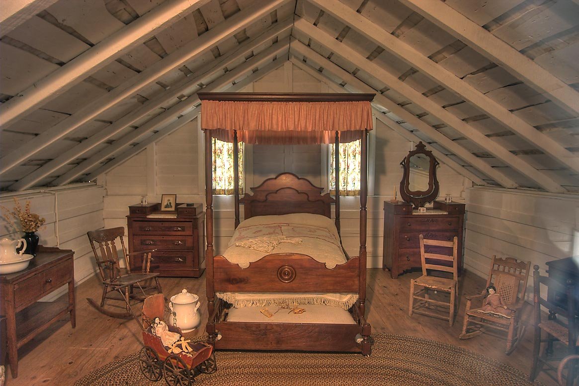 Room in Woodland Home in Sam Houston Museum. Huntsville, Texas