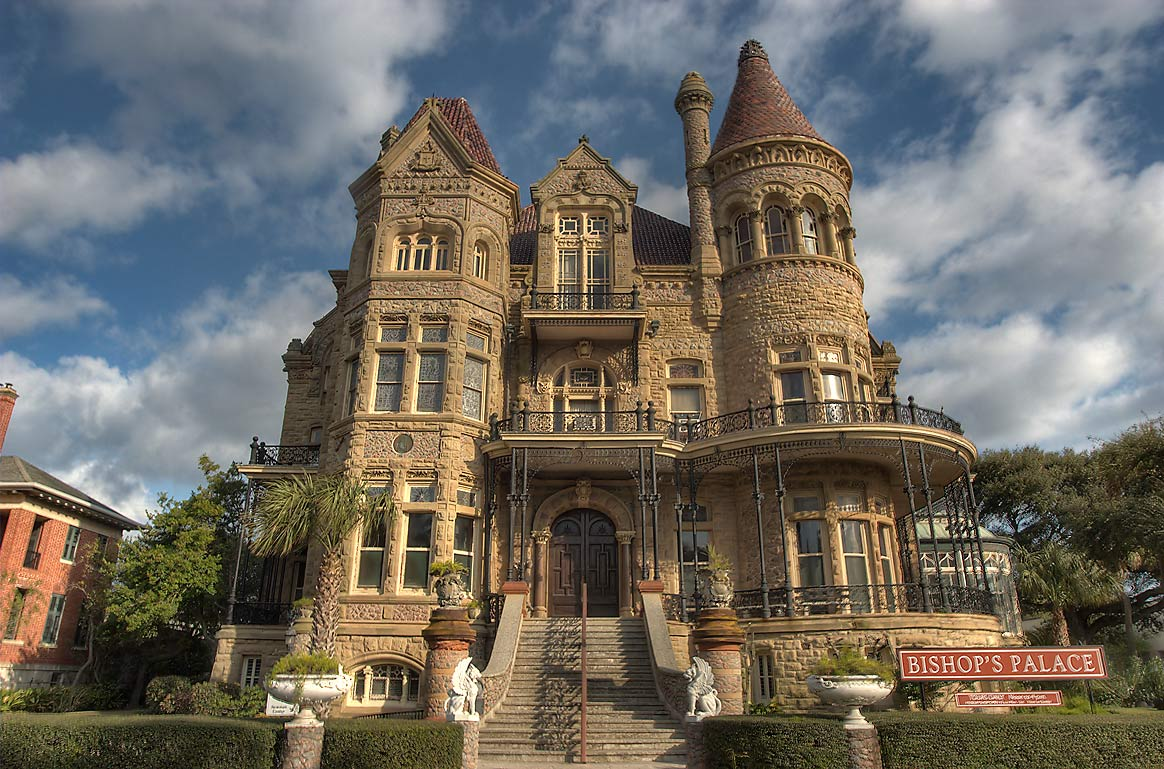 Gresham Residence / Bishop's Palace (1886-93) at...near 14th St.. Galveston, Texas