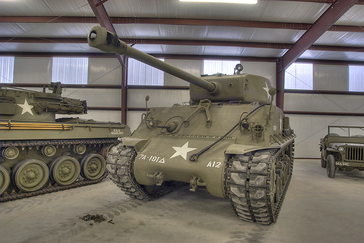 Restored tank in Museum of the American GI. College Station, Texas