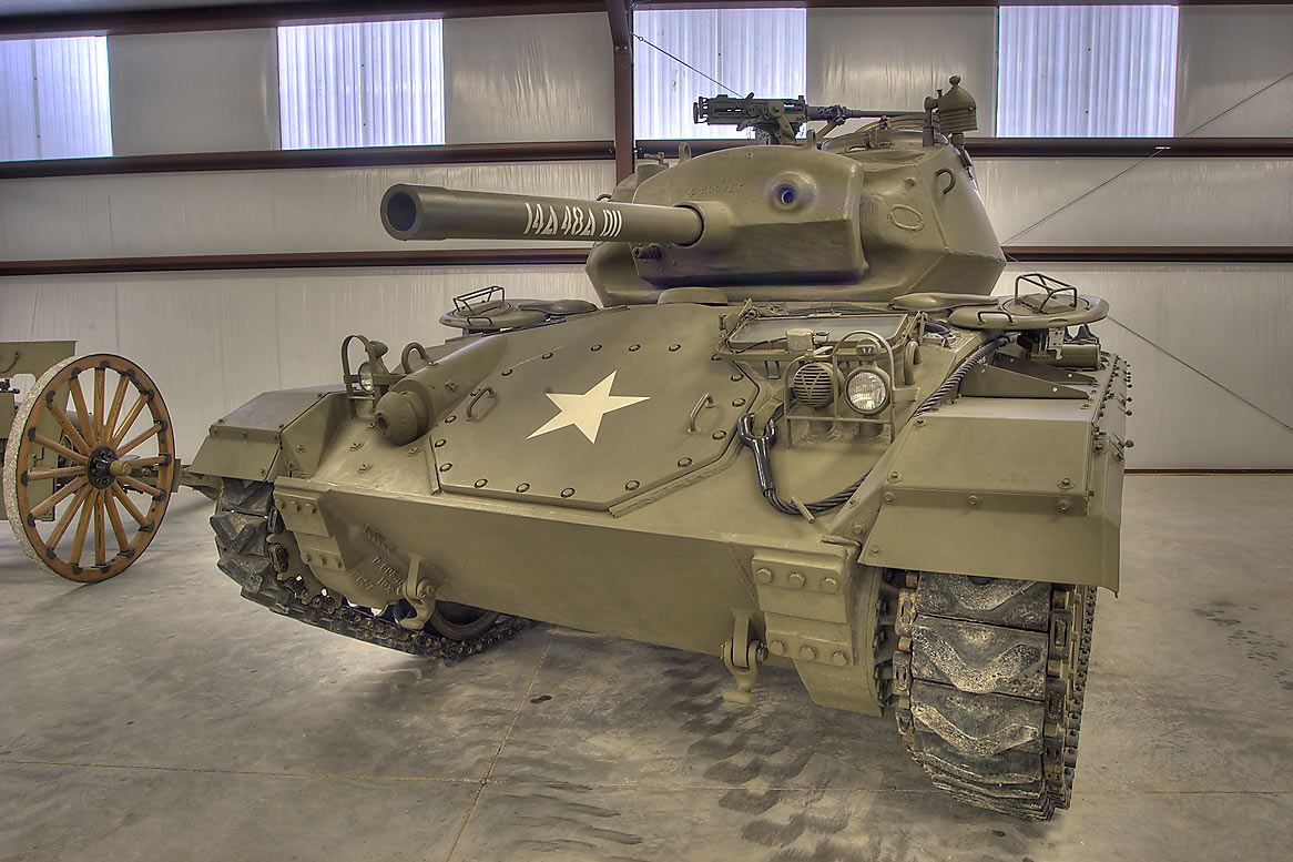 M24 Chaffee tank in Museum of the American GI. College Station, Texas