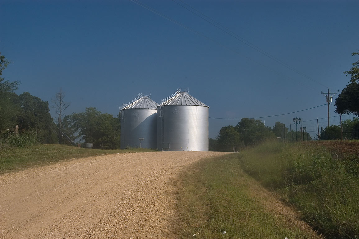 Silo on Rd. 364, north from Little River. Branchville, Texas