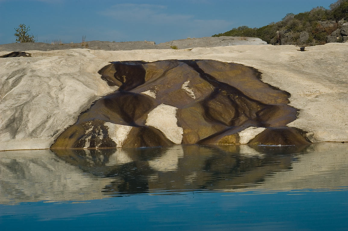 Pedernales Falls at low water level. Johnson City, Texas