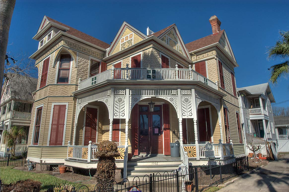 Beissner House (1887) at 1702 Ball St., a corner...Historic District. Galveston, Texas