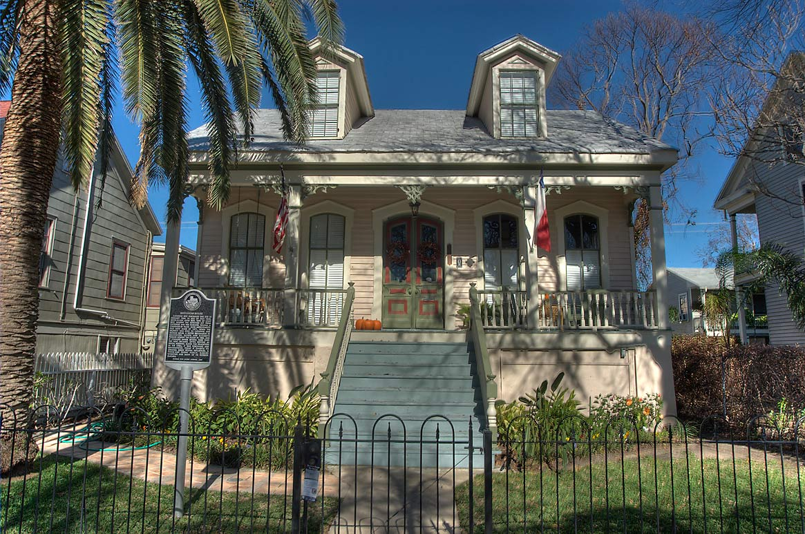 West-Lucas House on Sealey St. near 12th St. in...Historic District. Galveston, Texas