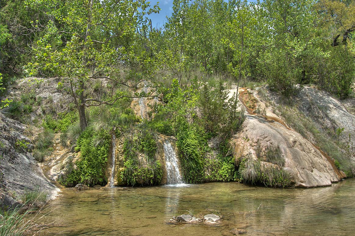 Spicewood Springs in Colorado Bend State Park. Bend, Texas
