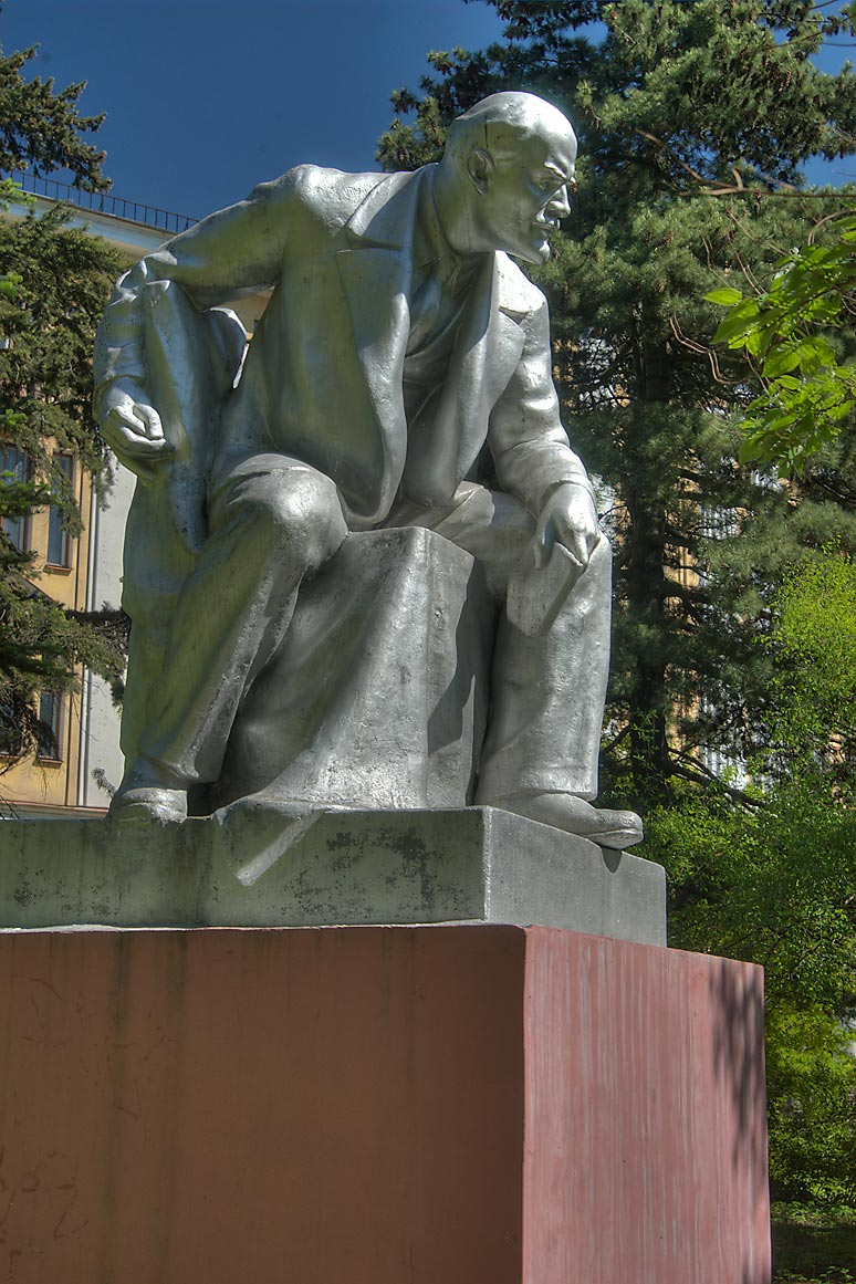 Monument of V. I. Lenin, a leader of Russian...Institute. St.Petersburg, Russia