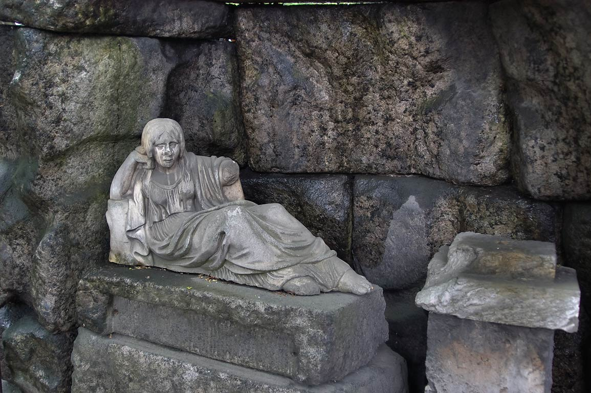 Sculpture of a woman in a crypt in Necropolis of...Cemetery). St.Petersburg, Russia