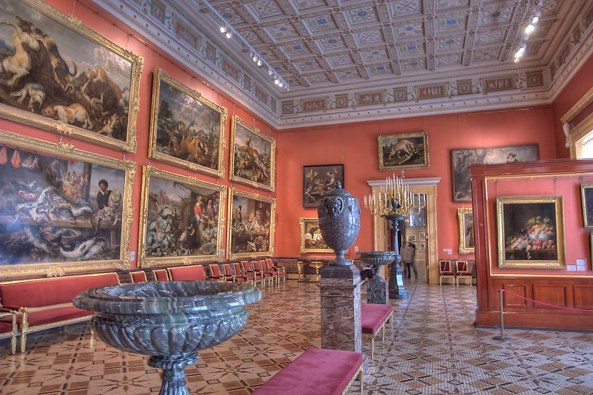 Room of Flemish Art in Hermitage Museum. St.Petersburg, Russia