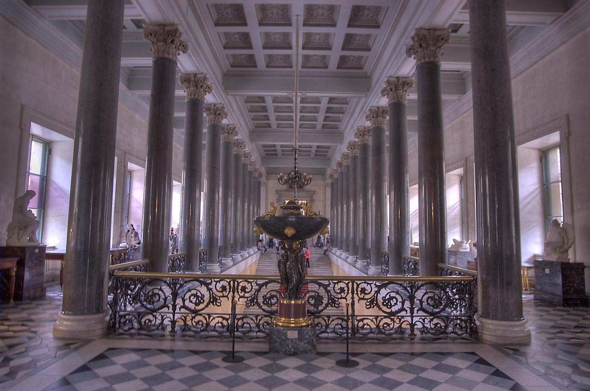 Main Staircase of the New Hermitage in Hermitage Museum. St.Petersburg, Russia