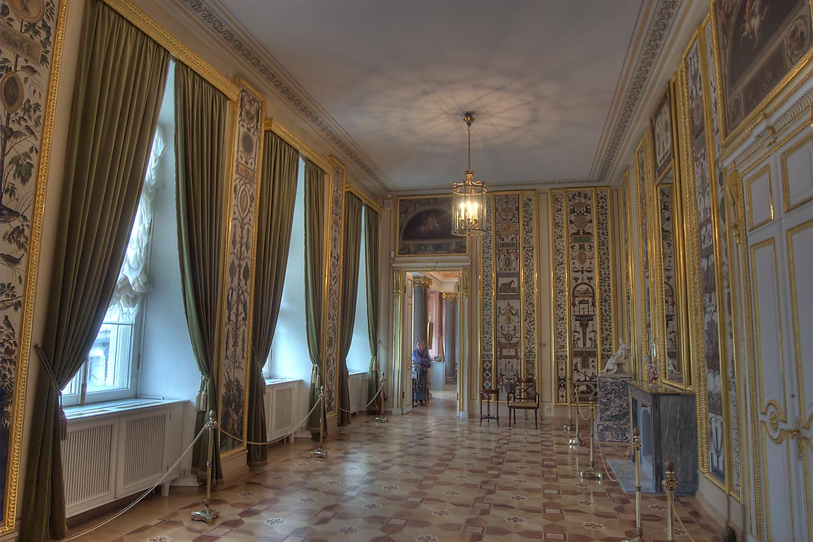 Arabesque Parlor of Stroganov Palace. St.Petersburg, Russia