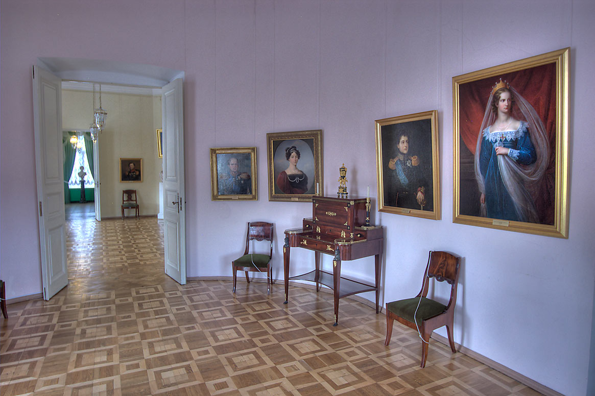Galleries in Gatchina Palace. Gatchina, a suburb of St.Petersburg, Russia
