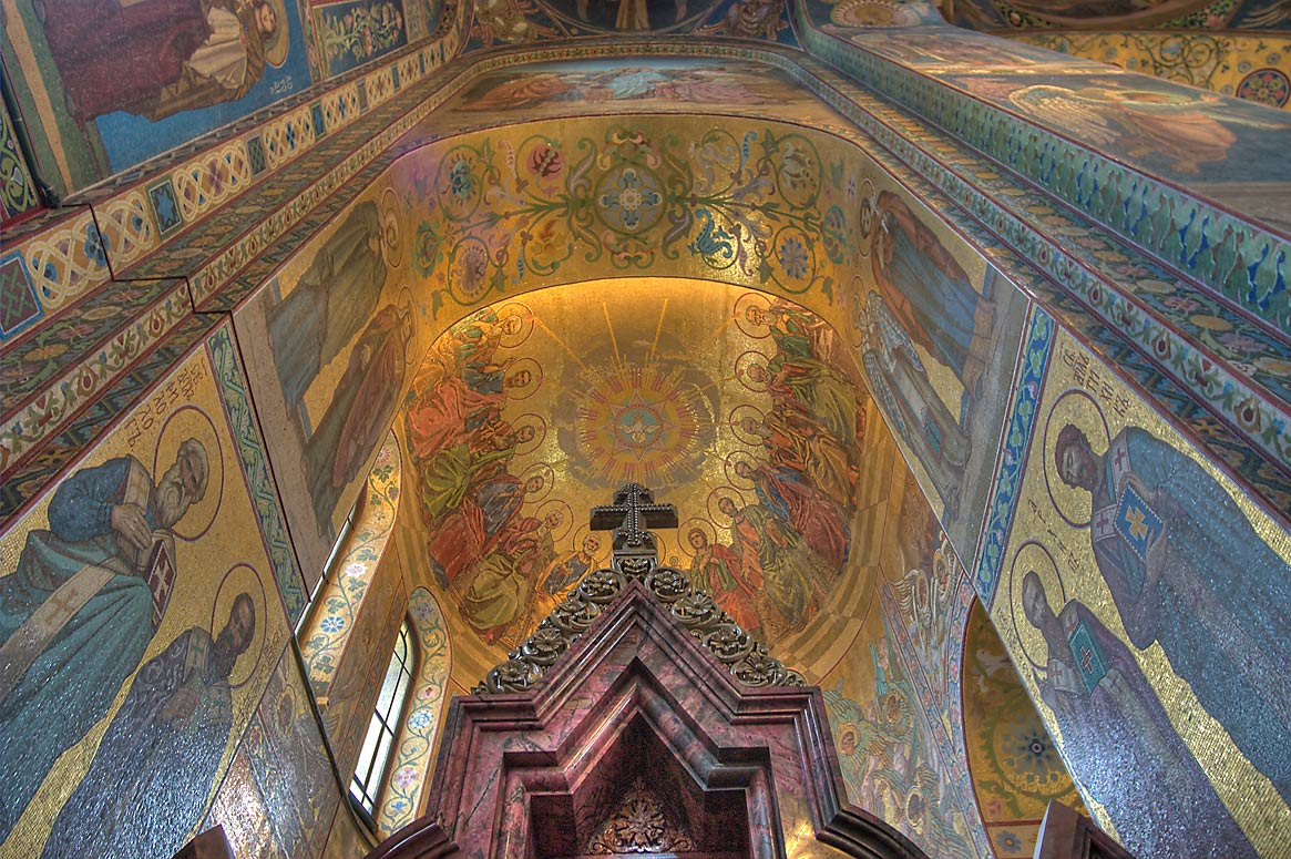 Althar of Church of Savior on Blood. St.Petersburg, Russia