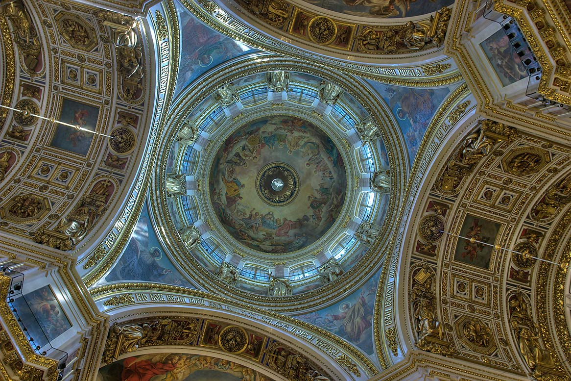 Vauils of St.Isaac Cathedral. St.Petersburg, Russia