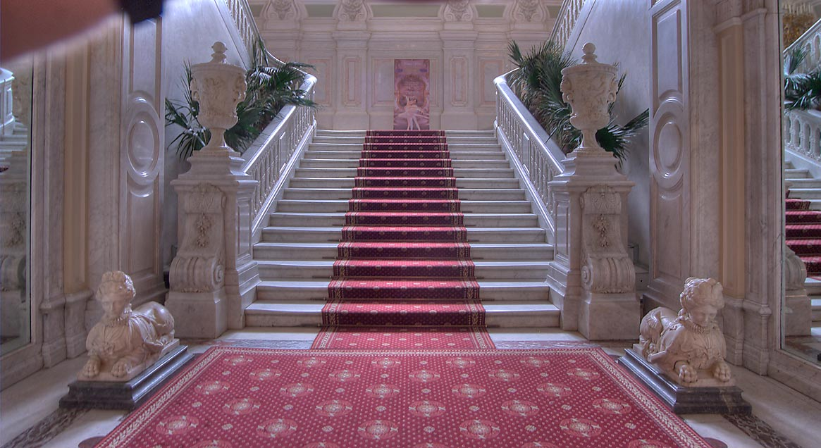 Grand Staircase of Yusupov Palace. St.Petersburg, Russia