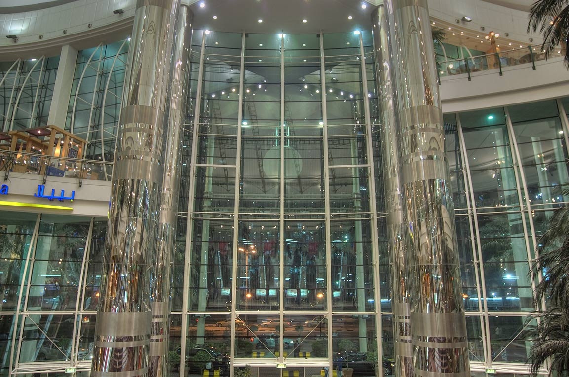 Atrium of City Center shopping mall. Doha, Qatar