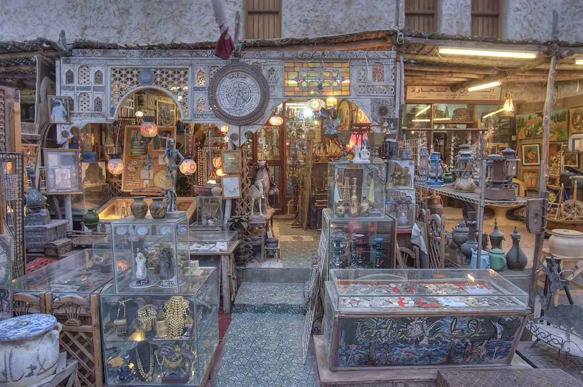 Antique shop in Souq Waqif (Old Market). Doha, Qatar