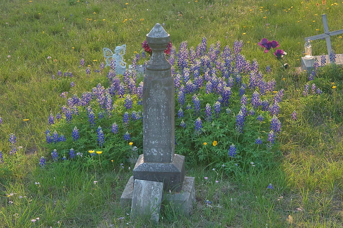 19th century tomb of Pecan Cemetery at Rd. 71...Rd. 308 south from Marble Falls. Texas
