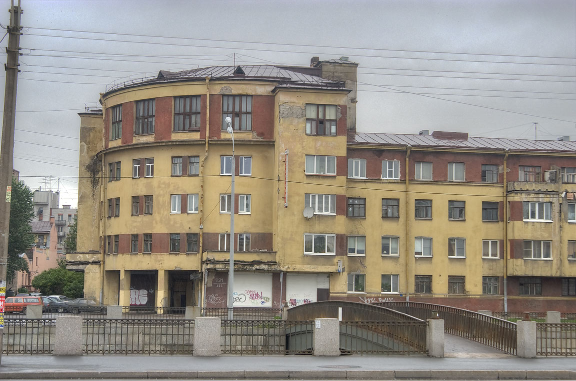 Dormitory for workers of power plant GRES-1...Obvodny Canal. St.Petersburg, Russia