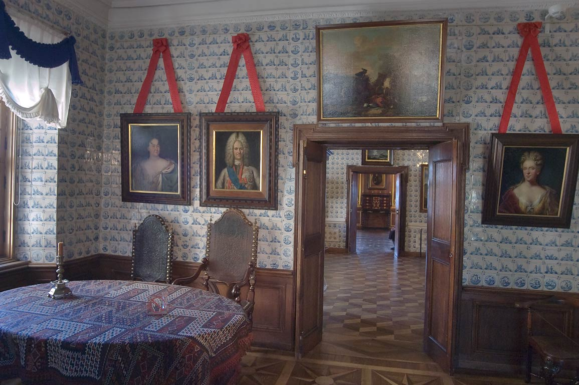 Dining room in Menshikovsky Palace in St.Petersburg, Russia