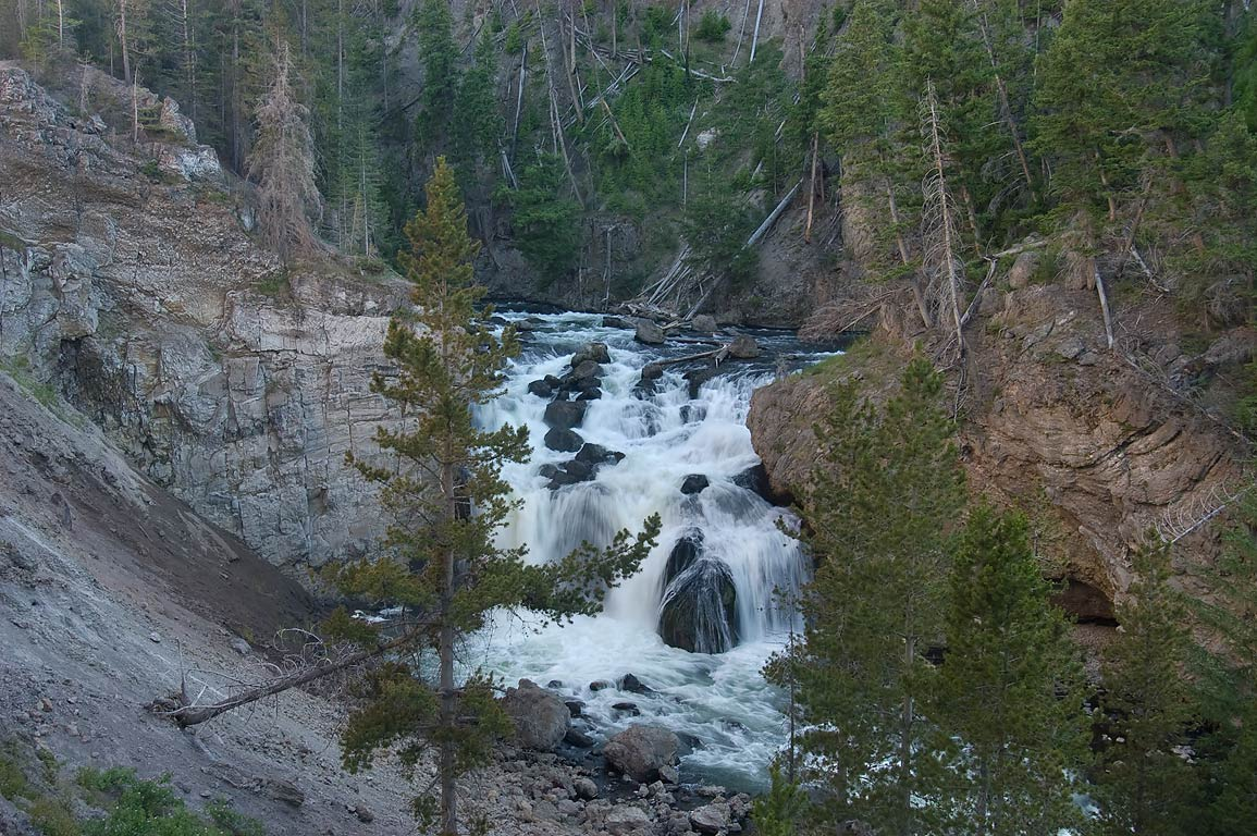 Firehole Falls. Yellowstone Park, Wyoming