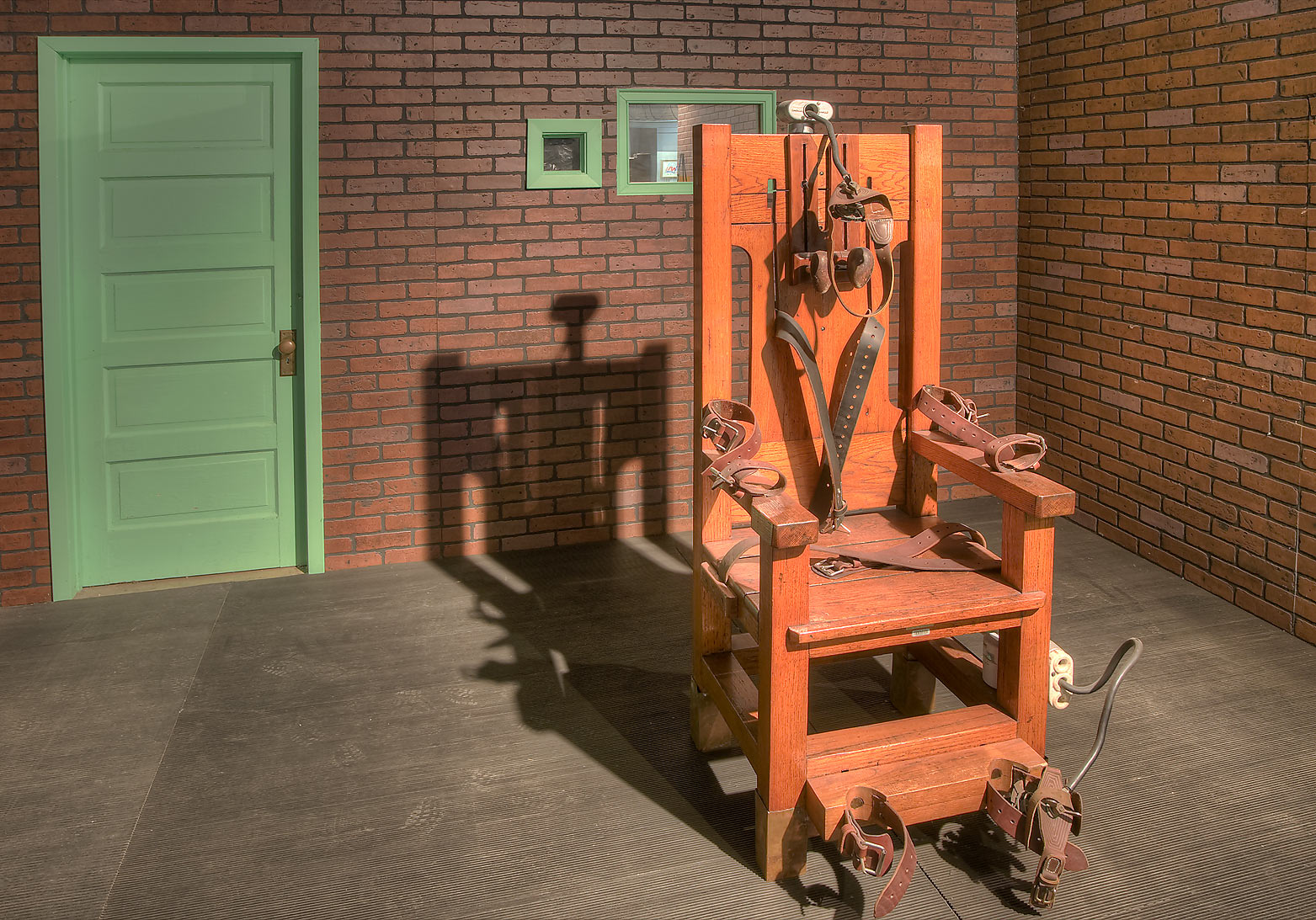 Old Sparky electric chair in Prison Museum. Huntsville, Texas