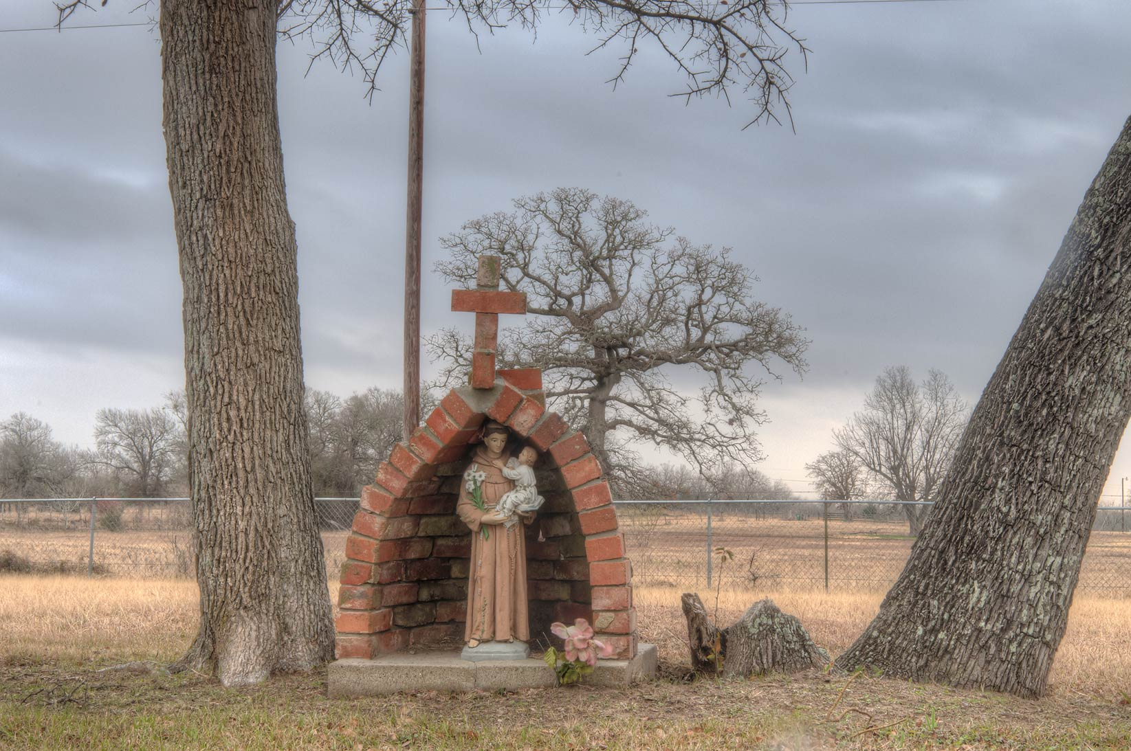 Cemetery at Mission de Cristo Jesus Church at...Port Sullivan, west from Hearne. Texas